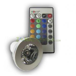 Dicroica LED GU10 5W RGB.   Cambia de color con mando a distancia.  18 euros IVA incluido.  http://www.zonaenergia.com/tienda/iluminacion-led/21-dicroica-led-gu10-5w-rgb.html#