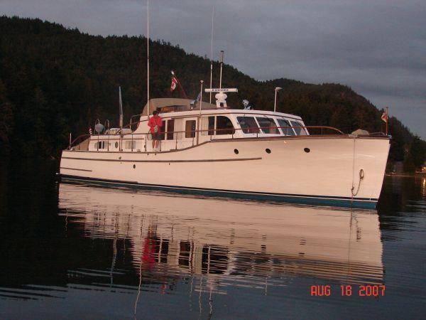 1948 Ed Monk cruiser 56' | Classic wooden boats, Yacht ...