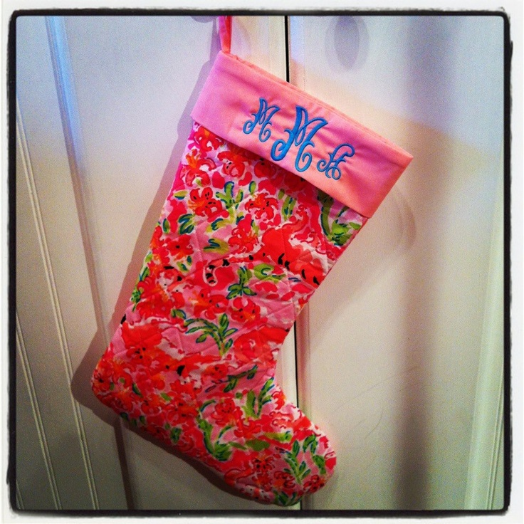 Miss Monogram stocking