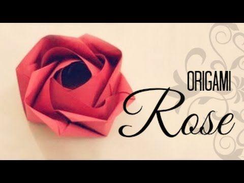 Origami Rose Box :: Caja Rosa - YouTube