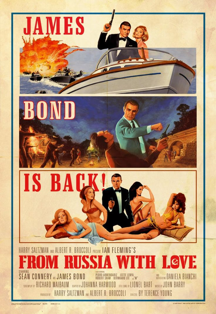 Illustrated 007 - The Art of James Bond: FRWL Poster Tribute