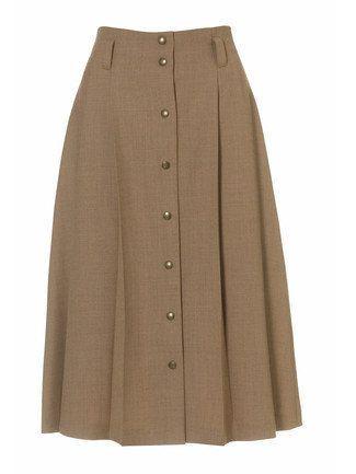 Buttoned A-Line Skirt 10/2010 #105 – high waisted buttoned skirt – intermediate