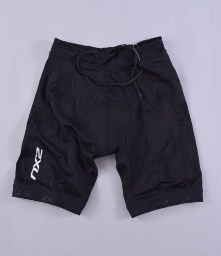 NEW 2XU G:2 Active Tri Shorts Mens Small Black Triathlon Bike Cycling