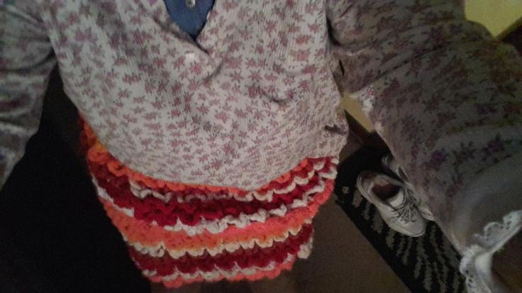 A skirt I made and baby hat I made by Nickey45