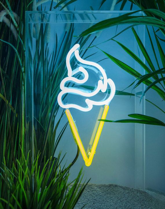 Ice Cream  free standing neon sign by sygns on Etsy