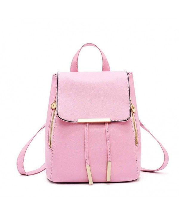 f7d003a000b9 Women Retro Korean Leather Drawstring Backpack Cute Travel Schoolbag ...