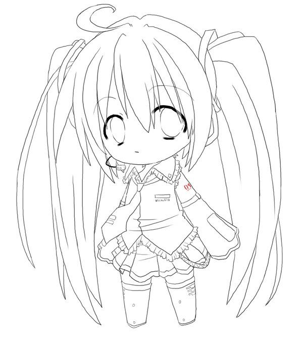 chibi coloring pages for girls images | coloring pages | pinterest ... - Hatsune Miku Chibi Coloring Pages
