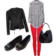 outfit pantalon rojo dama - Buscar con Google