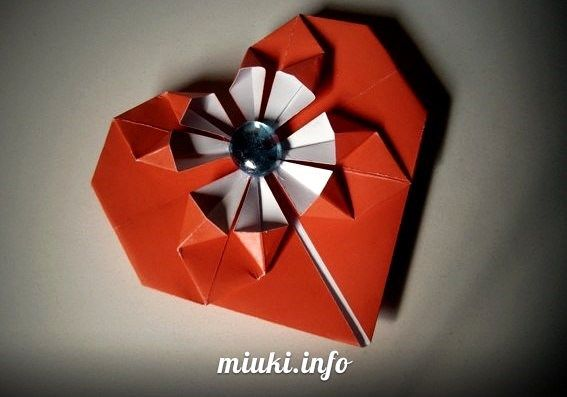 Оригами Сердце (видеоинструкции и схемы)