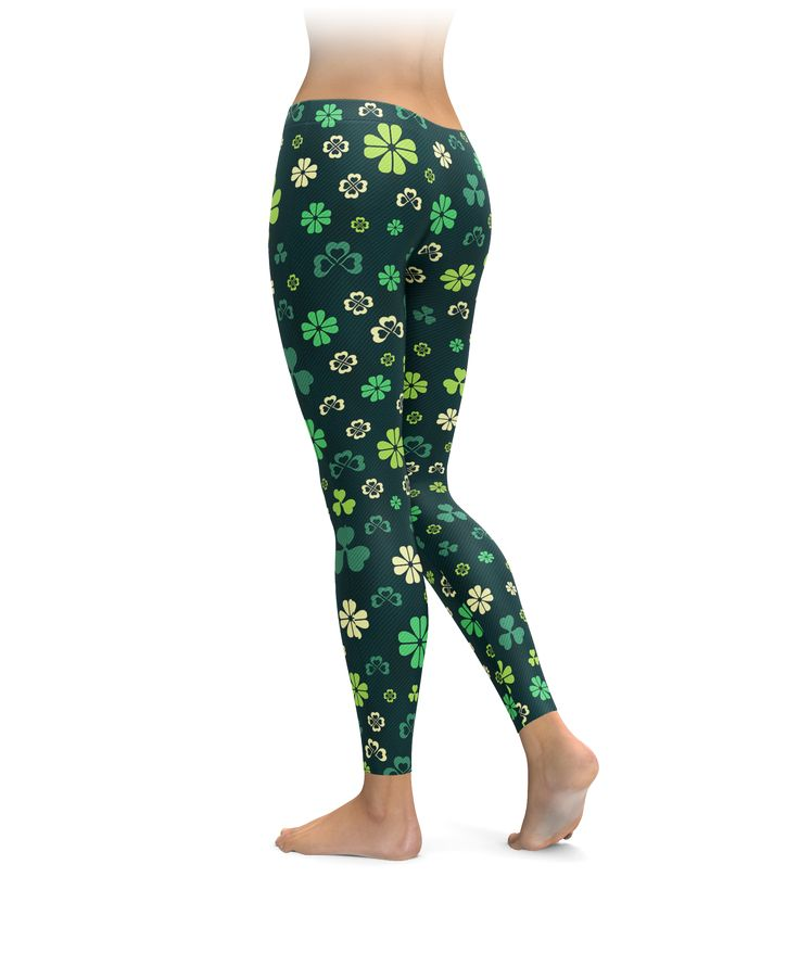 Feel lucky as can be with these awesome shamrock leggings! Whether you're out for a run, kicking butt at the gym, relaxing at home, or anything else life can throw at you, these leggings are sure to deliver style, comfort, and mobility.