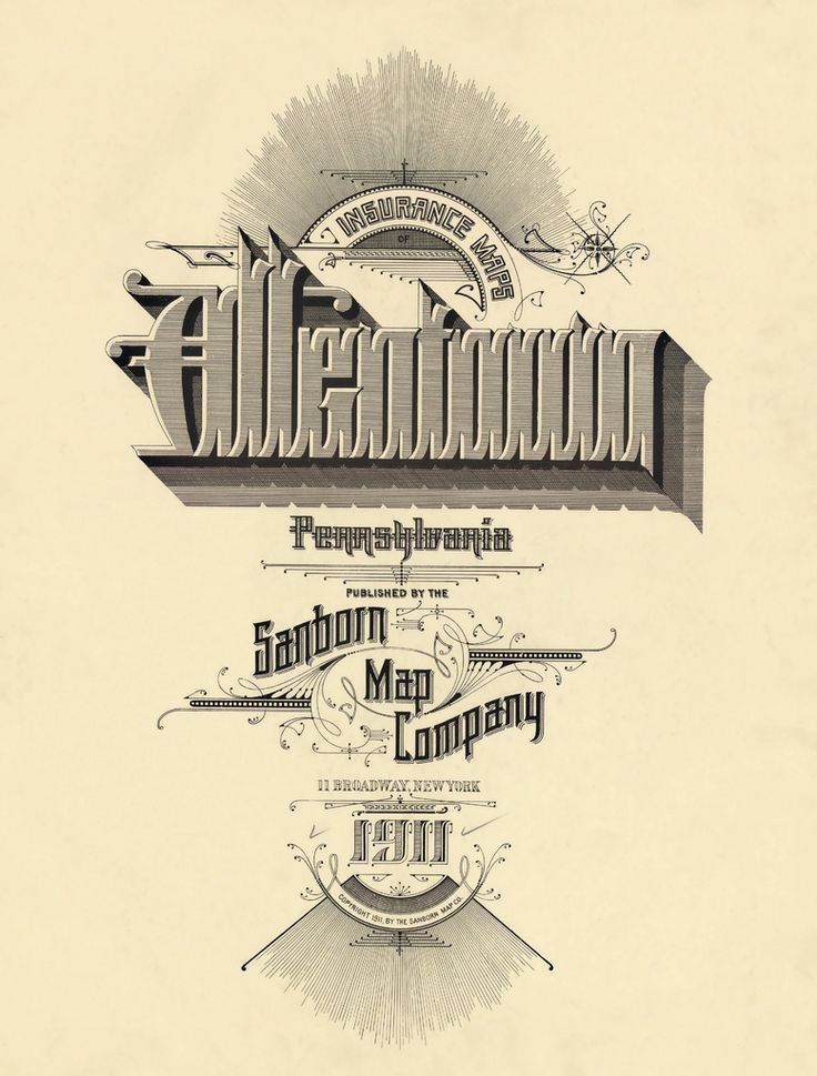 Allentown, Pennsylvania 1911 | More of these cartographic ad… | Flickr