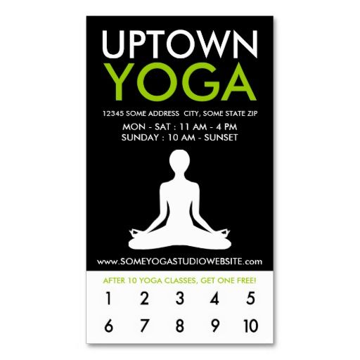 230 best yoga business cards images on pinterest business cards uptown yoga loyalty business card template reheart Choice Image