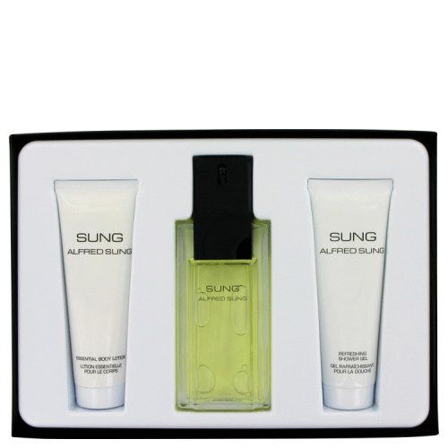 Alfred Sung By Alfred Sung Gift Set 3.4 Oz Eau De Toilette Spray + 2.5 Oz Body Lotion + 2.5 Oz Shower Gel
