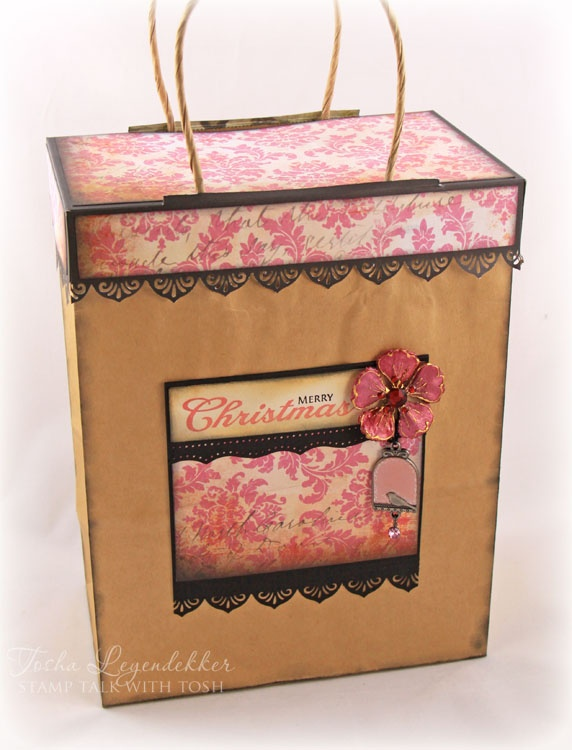 Stamp Talk with Tosh: Gift Bag Topper Tutorial: Gifts Bags, Bags Tutorials, Gifts Ideas, Stamps Talk, Bags Toppers, Toppers Tutorials, Gifts Wraps, Paper Crafts, Wraps Ideas