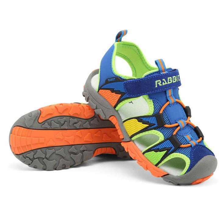 Erkek sandalet Yaz yeni stil Çocuk ayakkabıları erkek moda cut-çıkışları sandalet çocuklar tuval yağmur sandalet nefes flats ayakkabı