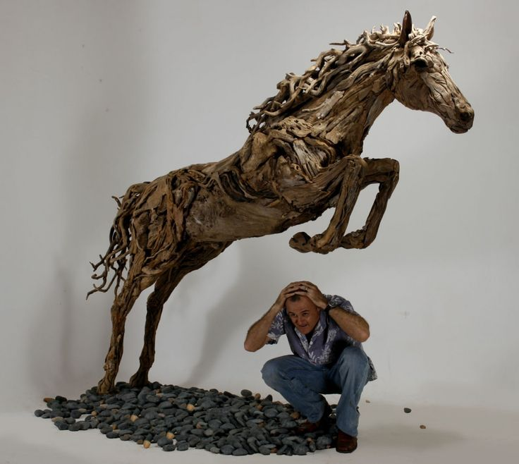 Dogs in Art at the StockBridge Gallery -    Diomedes a Lifesized Driftwood Horse Sculpture by James Doran Webb, £22,000.00 (http://www.dogsinart.com/diomedes-a-lifesized-driftwood-horse-sculpture-by-james-doran-webb/)