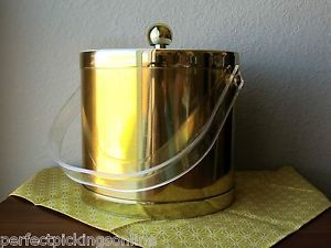 Gold Tone Vintage Ice Bucket - Perfect Pickings - www.perfectpickings.com