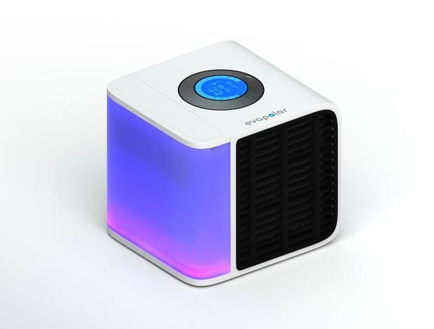 "This Mini Personal Air Conditioner Cools Small Spaces | Designed as a portable solution for personal comfort, the Evapolar personal air conditioner is a compact ""climate control system"" that provides cool, moist air to the area of a room where it sits."