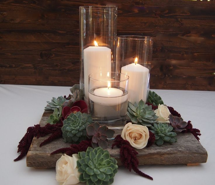 We love the succulants in winter  or romantic centerpieces.