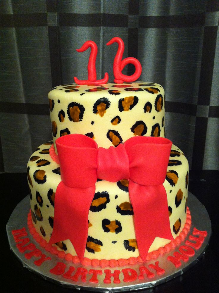 65 best Animal print cakes images on Pinterest Descendants cake