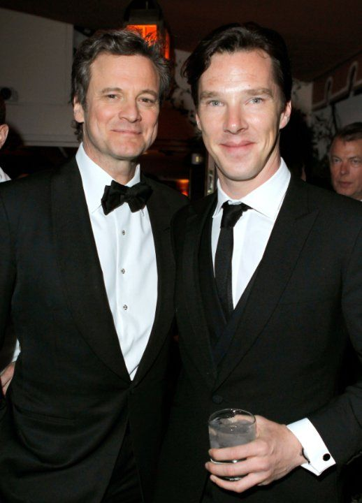 Colin Firth and Benedict Cumberbatch ... too much British cute in one photo!