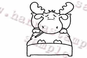 Hanna Stamps Moose Sick Riley
