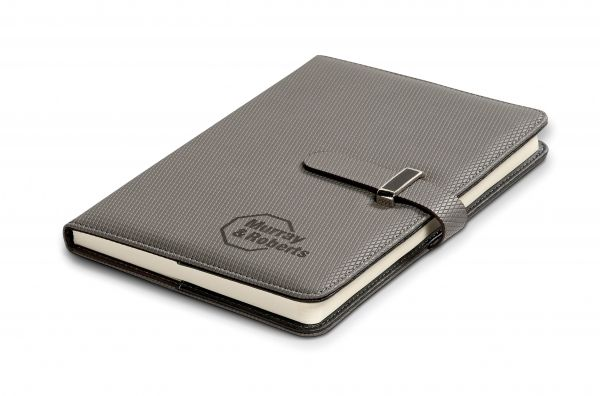 Tudor Midi Notebook NB-9365 TUDOR MIDI NOTEBOOK thermo PU & simulated leather 21.8 ( l ) x 14.5 ( w ) x 1.4 ( h ) / excludes pen 104 lined pages