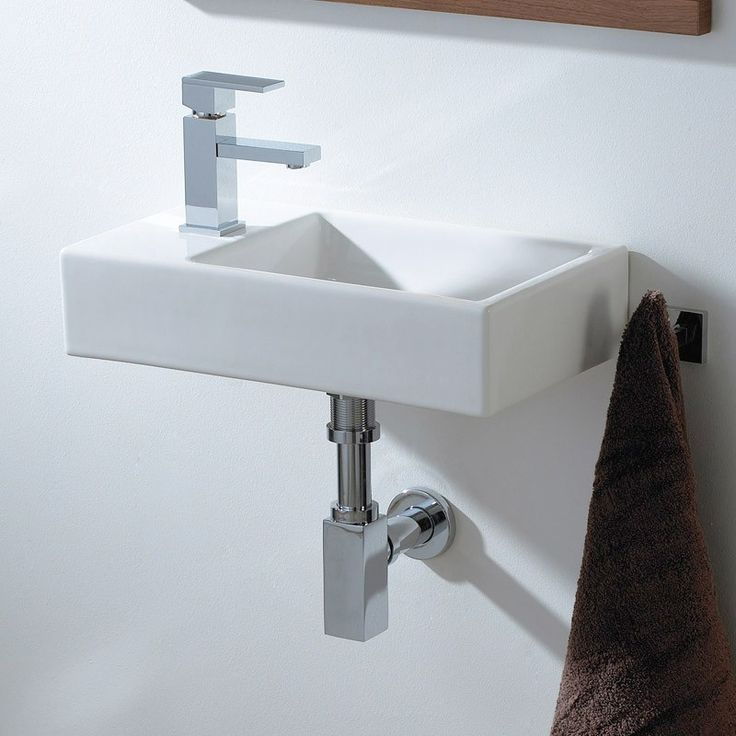 Small Cloakroom Basin - Ceramic Wall Hung