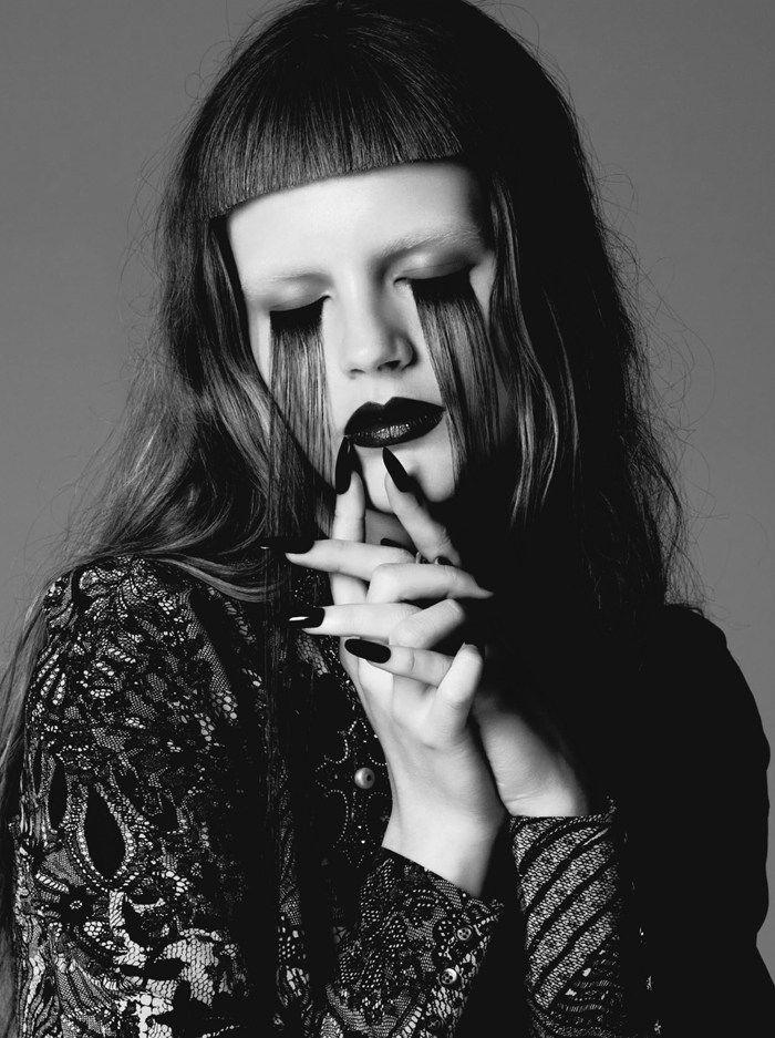 Love those long lashes 'Black Celebration' Lily & Lilac Lens Gothic Ensembles for Dress to Kill Fall 2012