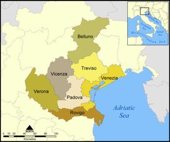 Provincias del Véneto.