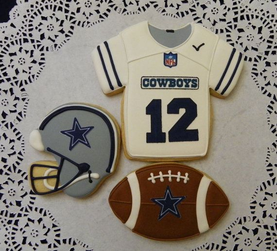 Professional Football Team Cookies by ruthiescookies on Etsy