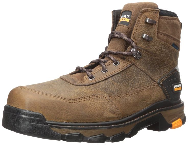 "Ariat Work Men's Intrepid 6"" H2O Composite Toe Work Boot, Rye Brown, 8 2E US"