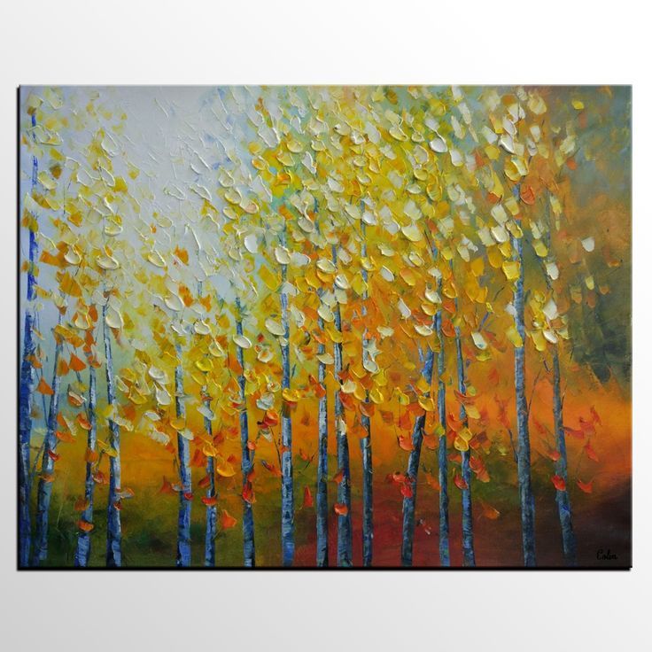 64 best Wall Hanging, Landscape Painting for Sale, Autumn Tree ...