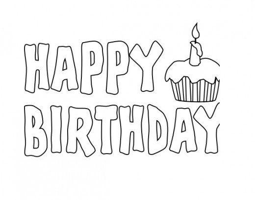 Картинка с днем рождения трафарет для распечатки, английском