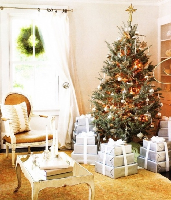 Christmas Decorations Living Room 36 best gold and silver christmas images on pinterest | christmas