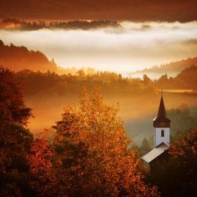 .Sunday Mornings, God, Church, Autumn, Colors, Janowicki Mountain, Beautiful Pictures, Photography, Country