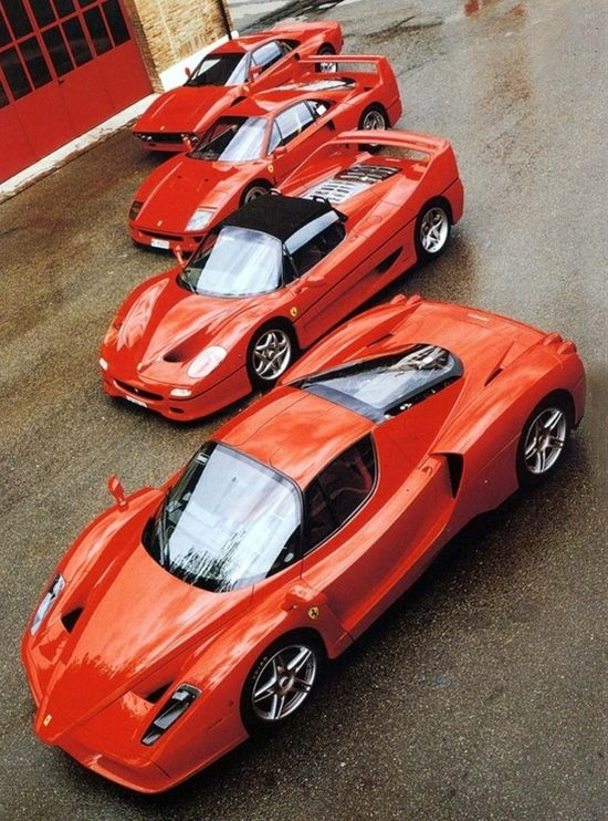 ferrari enzo, ferrari f50, ferrari f40, ferrari 288 gto - Click image to find more cars & motorcycles Pinterest pins