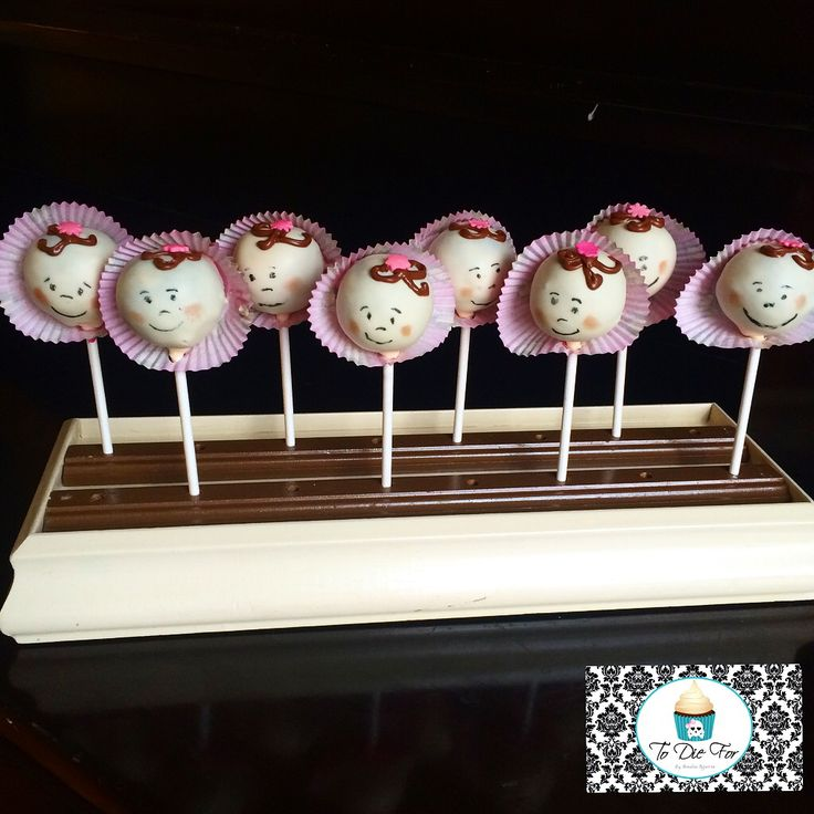 Perfect baby shower cake pops!