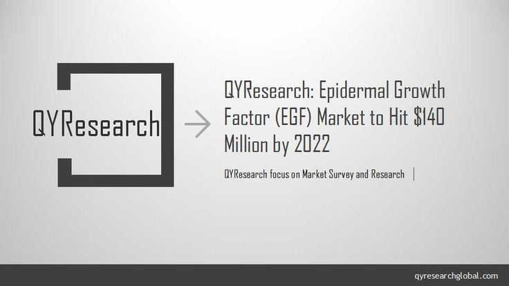 The global Epidermal Growth Factor (EGF) market will reach $140 million by 2022, increasing at a compound annual growth rate (CAGR) of nearly 6%, according to QYResearch.