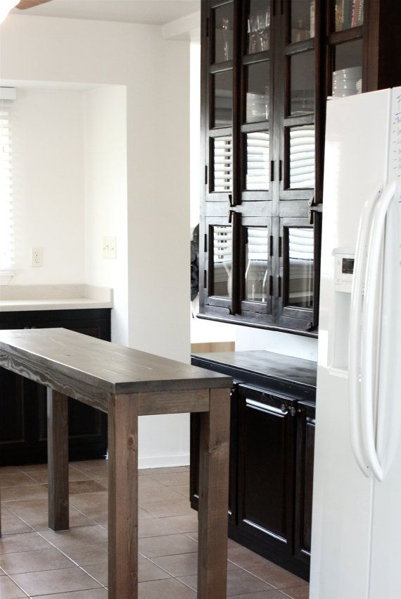 Counter Height Kitchen Island in Reclaimed Wood by LMFurniture