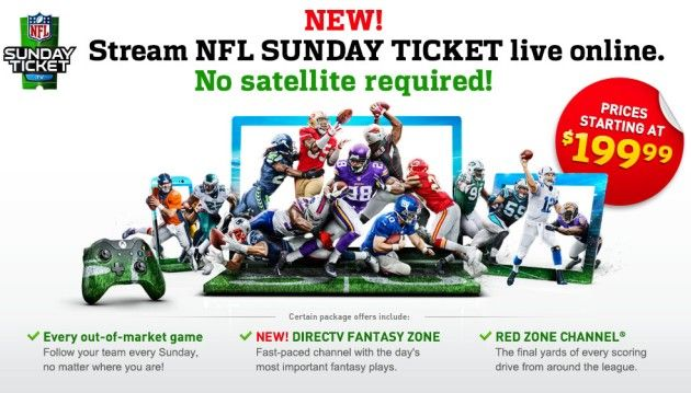'NFL Sunday Ticket without satellite' sounds too good to be true, and for many it is. Unless you live where you can't get satellite coverage. :)