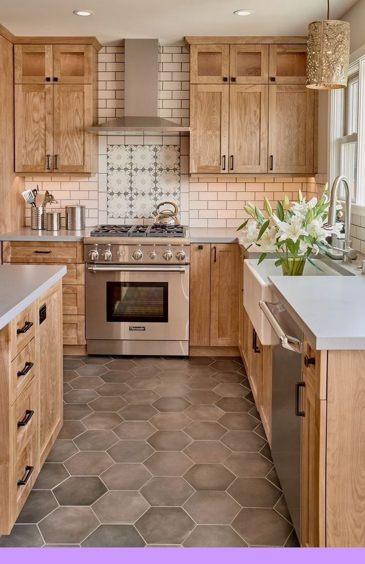 Dark Light Oak Maple Cherry Cabinetry And Wooden Kitchen Cabinet Cleaners Check The Kitchen Design Farmhouse Kitchen Design Farmhouse Kitchen Backsplash