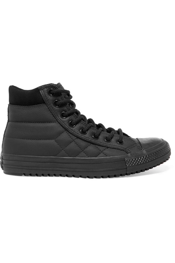 Converse - Zapatillas de Piel para hombre Marfil Parchment Fur Black PQfqeI8x