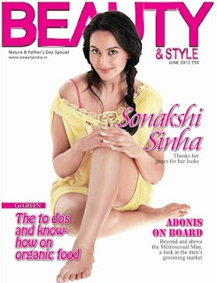 Sonakshi Sinha on The Cover of Beauty and Style Magazine June 2012. | Bollywood Cleavage