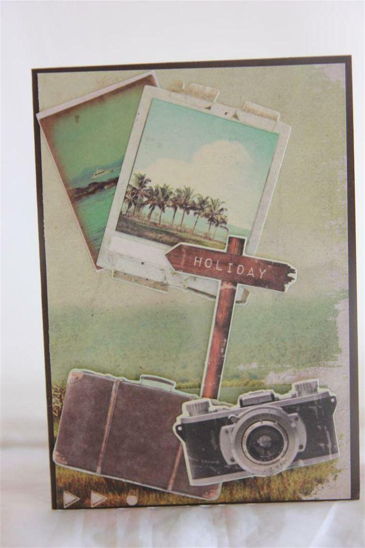 kaisercraft paradiso collection, bon voyage card.