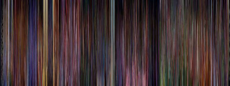 An entire film compressed to one picture.  This is Alice In Wonderland.