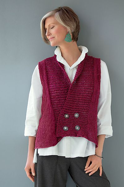 Crossover Vest by Amy Brill Sweaters: Sweater available at www.artfulhome.com