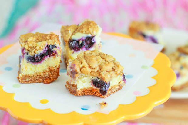 Blueberry Lemon Cheesecake Bars.