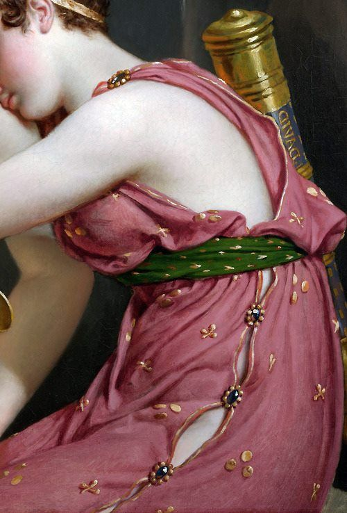 In detail: The Farewell of Telemachus and Euchari, 1818. Jacques-Louis David (French 1748-1825, voted for the death of Louis XVI).
