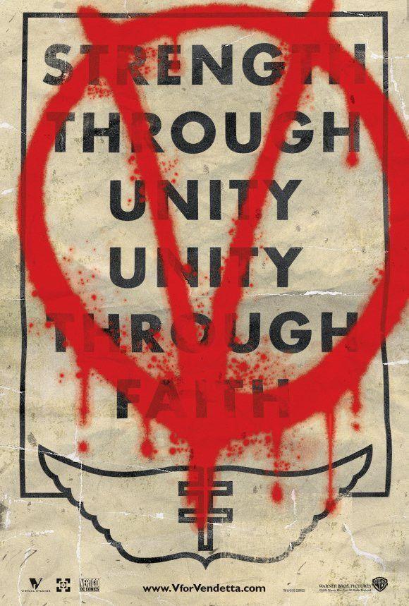 "#VforVendetta  V  ""Strength through unity, unity through faith"""
